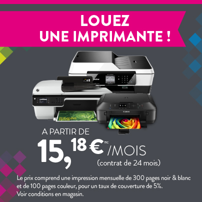 Location d'imprimante - Cartridge World Lyon