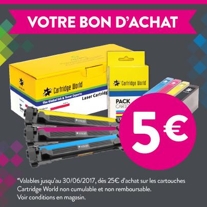 Bon d'achat - Cartridge World Lyon-Villeurbanne